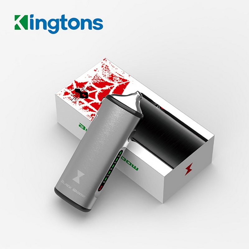 DHL 100% Original Black Widow Kingtons dry herb mod box kit 2200mah herbal vaporizer vape pen e cig cigarette black widow цены