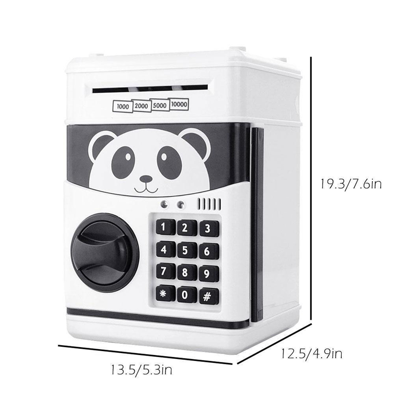 Good Quality Password Mini Piggy Bank Cash Coins Money Bill Safe Box Lock Sound Battery Power For Children Kids Collecting Coins