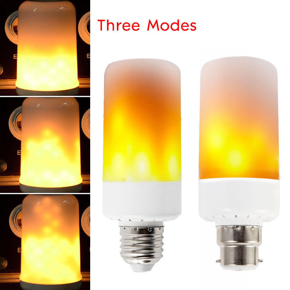 Practical 1pc E14 Led Light Flicker Fire Flame Candle Warm Light Bulb Lamp Home Decoration Home Decor Candles & Holders