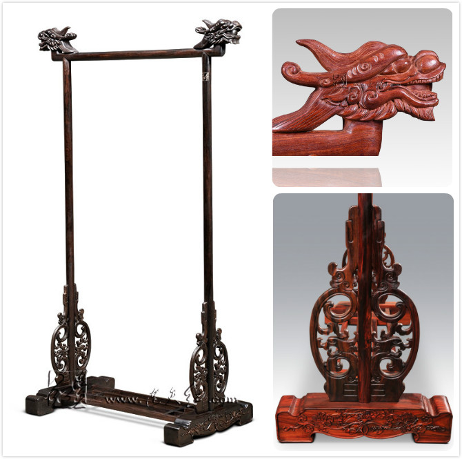 Dragon's Head Clothes Hanger Rosewood Home Bed Room Clothing Storage Solid Wood Furniture Caring Wooden Coat Rack Padauk Antique notebook a4 inside page spiral 60 sheets 3 hole filler paper blank and line kraft paper office and school supplies writing pads