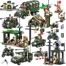 1Set Military Educational Building Blocks Toys For Children Gifts Army Cars Planes Helicopter Weapon Compatible With Legoe