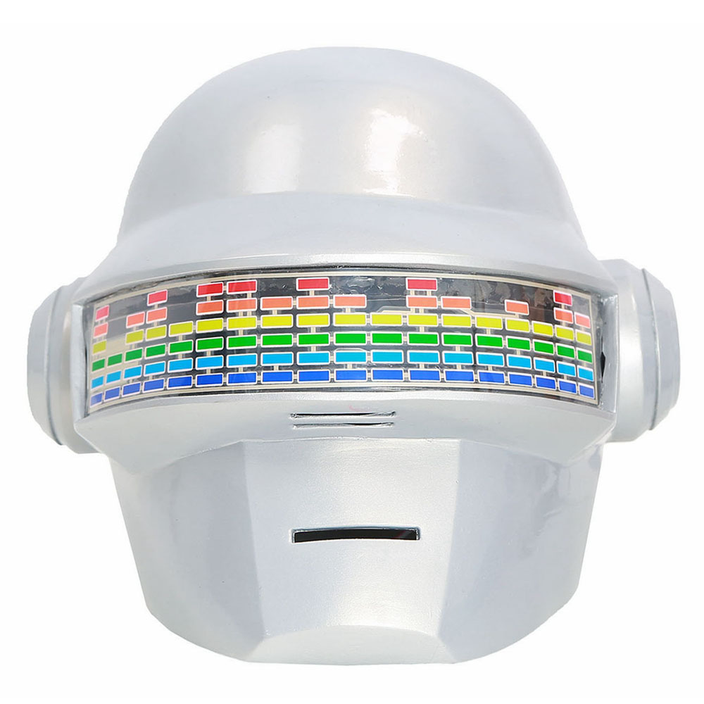 Daft Punk Classic Helmet Mask Remote Voice Control Version PVC White Full Head Masks Cosplay Costume Props Helmet With LED Light