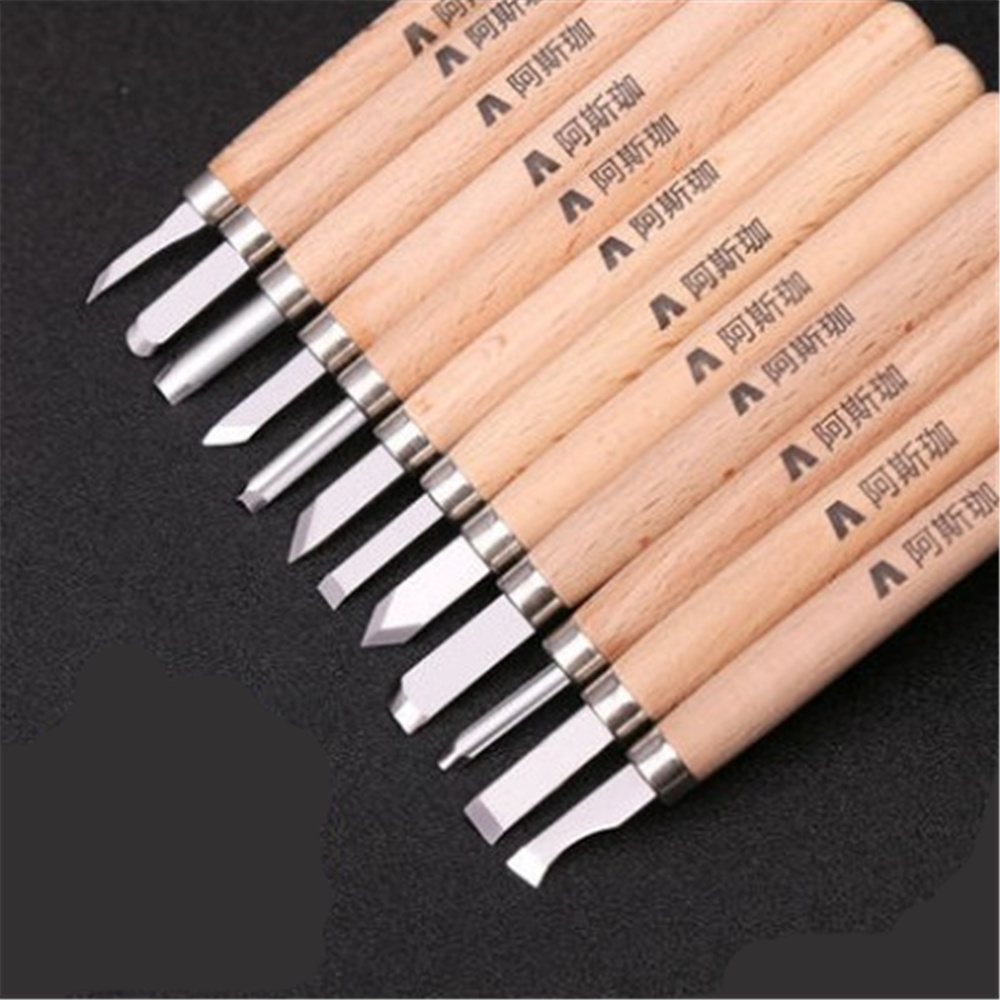 12-piece Wood Carving Tool Set Utility Knife Rubber stamp carving knife woodcut knife hand tool set wood carving knife with box snap off knife woodworking chisel sets rubber stamp carving tools