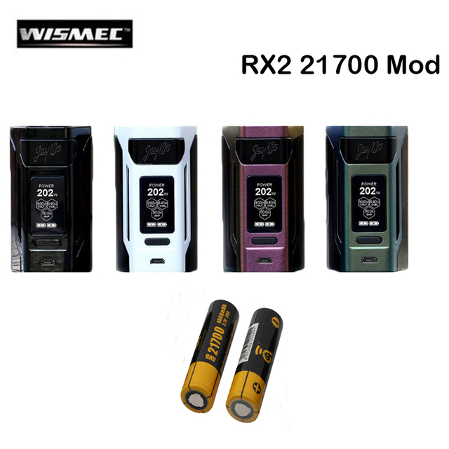 Оригинальный wismec reuleaux RX2 21700 Mod Vape 230 Вт Поддержка гном распылитель Fit WM02 катушки электронная сигарета комплект для электронной сигареты
