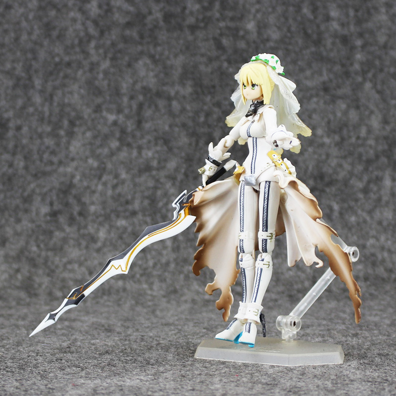 High quality 15cm figma Fate Stay Night Saber Lily PVC Action Figure Collection Model Toy Free shipping