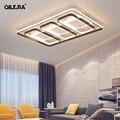 Светодиодный потолочный светильник для гостиной спальни кабинет в прямоугольной форме Современная декоративная лампа с пультом дистанцио...