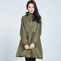 Waterproof Trench Coat Women Riancoat Travel Poncho Jackets Waterproof Female Adult Raincoat Women Impermeable Mujer R5C063