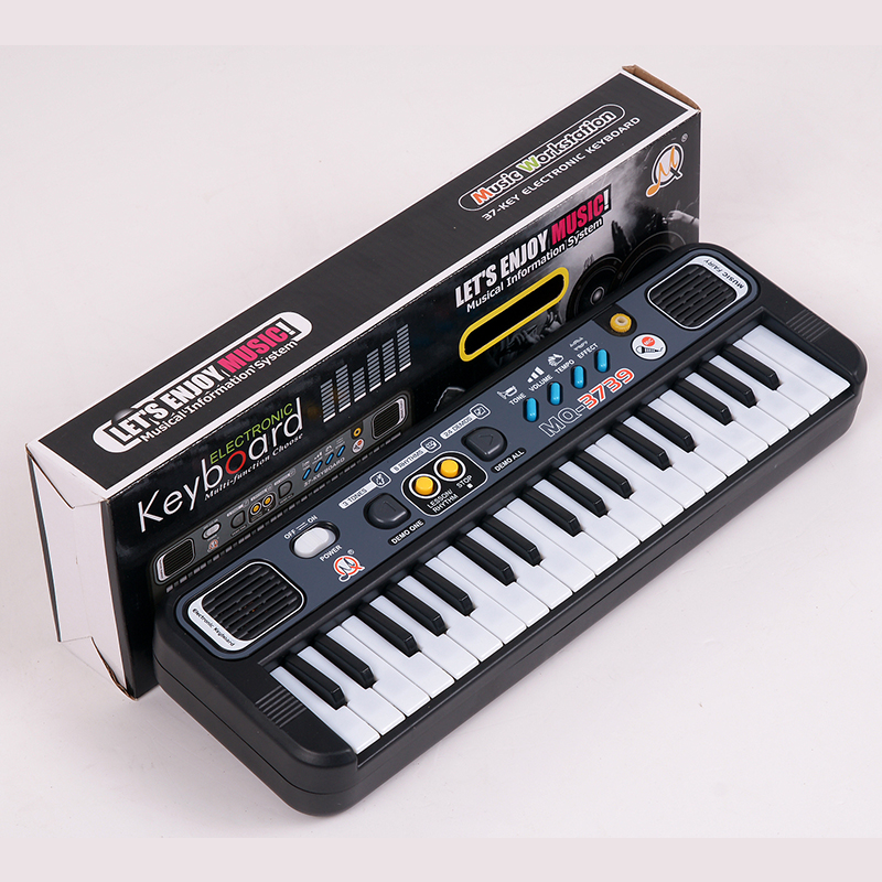 Multifunctional Mini Electronic Piano with Microphone Plastic ABS Children Portable 37 Keys Digital Music Electone Keyboard Gift