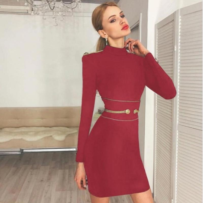Bandage Dresses 2019 Spring Summer Fashion Bodycon Elegant Sexy O Neck Vestido Evening Party Clothes Women