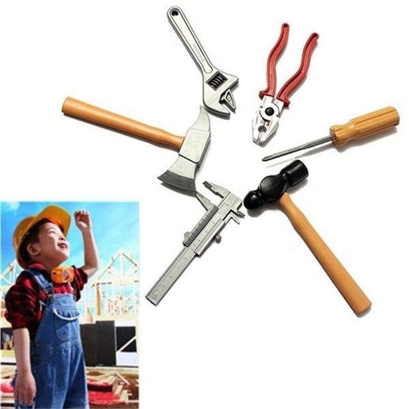 6 Stks/set Kinderen Kids Jongen Building Tools Set Diy Bouw Speelgoed Plastic Geschenken In Veel Stijlen