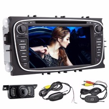 2Din Android 4.4 dvd-плеер автомобиля GPS навигации для Ford Focus Mondeo 2013 2014 2015/16 аудио Радио стерео 2din головного устройства + Камера
