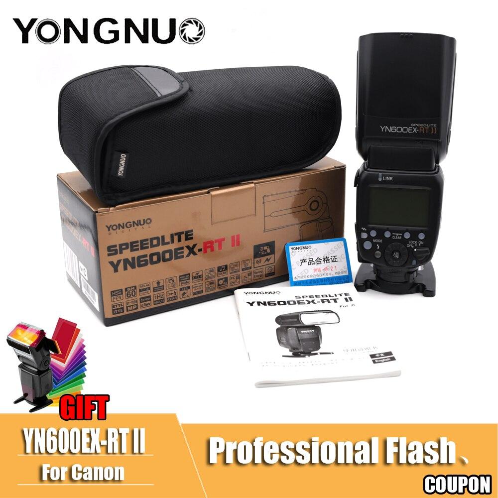 YONGNUO YN600EX-RT II Flash Speedlite YN-600EX II RT 2,4g inalámbrico HSS 1/8000 s maestro para Canon EOS cámara con libre difusor