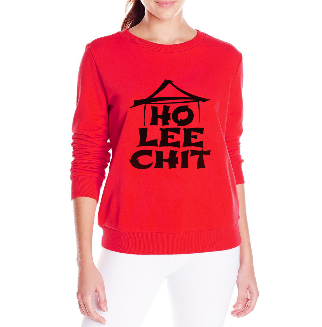 Hot sale Ho Lee Chit Holy sweatshit graphics funny kpop brand tracksuit women casual 2017 autumn Harajuku hoodies european style