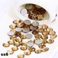 Ss6 2.0mm Lt Col Topaz Strass Unhas, 1440 pçs/lote Plana Volta Non Hotfix Glitter Pedras Prego, DIY Telefones Do Prego 3d Decorações