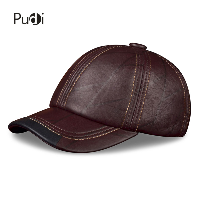 HL099 genuine leather men baseball cap hat CBD high quality men's real leather adult solid adjustable hats caps 35colors silver gold soild india scarf cap warmer ear caps yoga hedging headwrap men and women beanies multicolor fold hat 1pc