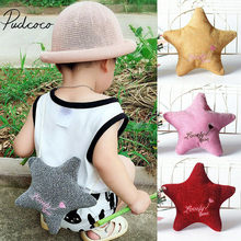2019 Baby Accessories Kids Girl Sequins Star Shaped Crossbody Pouch Bags Coin Purse Wallet Shoulder Plush Purses Kids Gift Props(China)