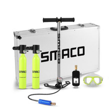 SMACO 0.5L Diving Mini Scuba Cylinder Air Tank Valve Respirator Box Equipment Snorkeling Underwater Breathing Accessory