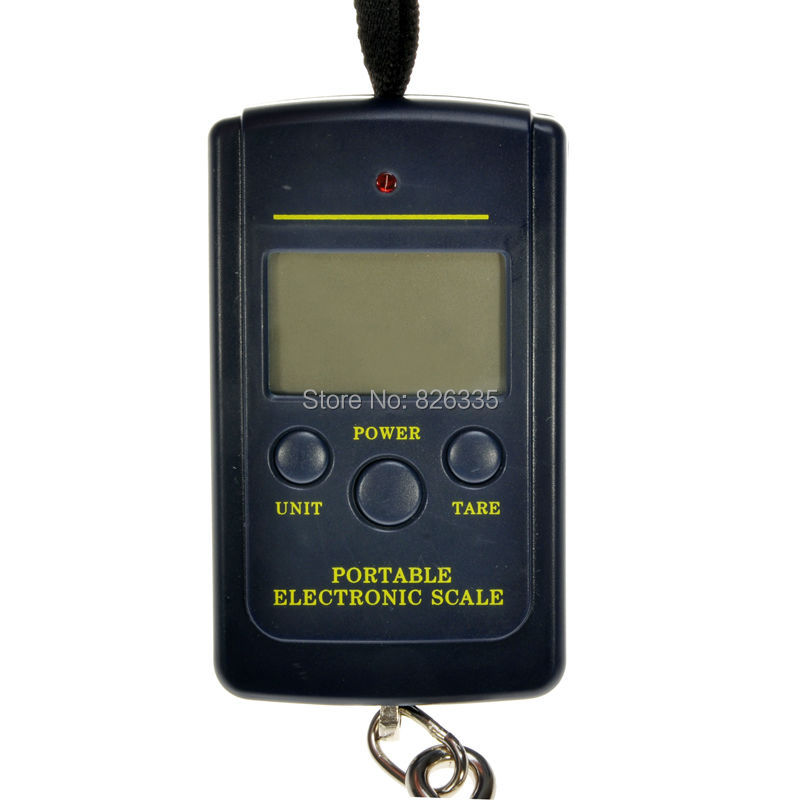 Pocket Electronic Digital Scale 0.01kg * 40kg Hanging Luggage Weight Balance Steelyard  Black