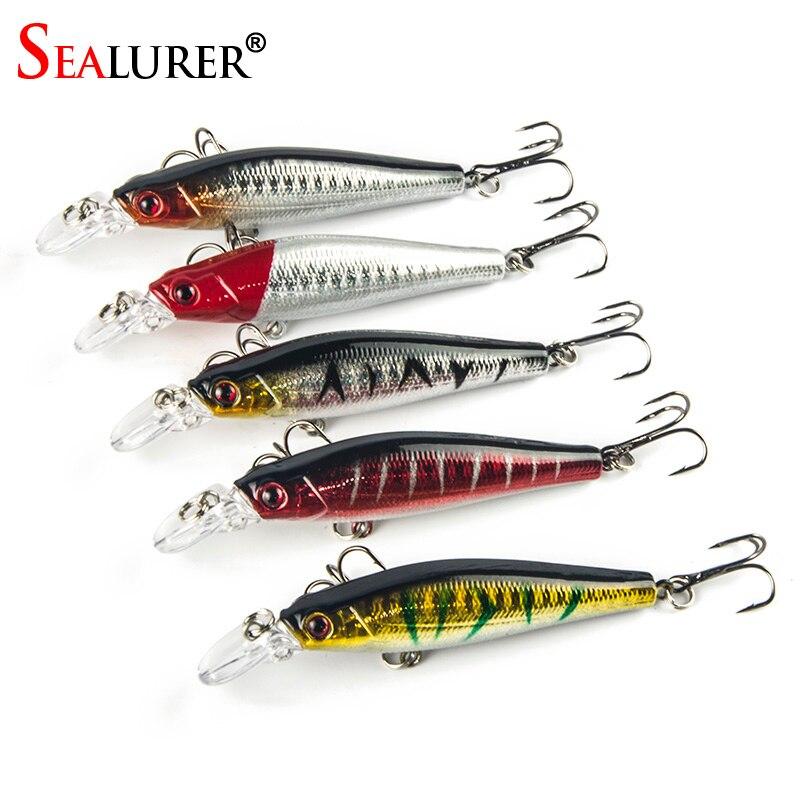 Sealurer fishing lures 5pcs lot 3d eyes minnow fishing for 5 3 fishing