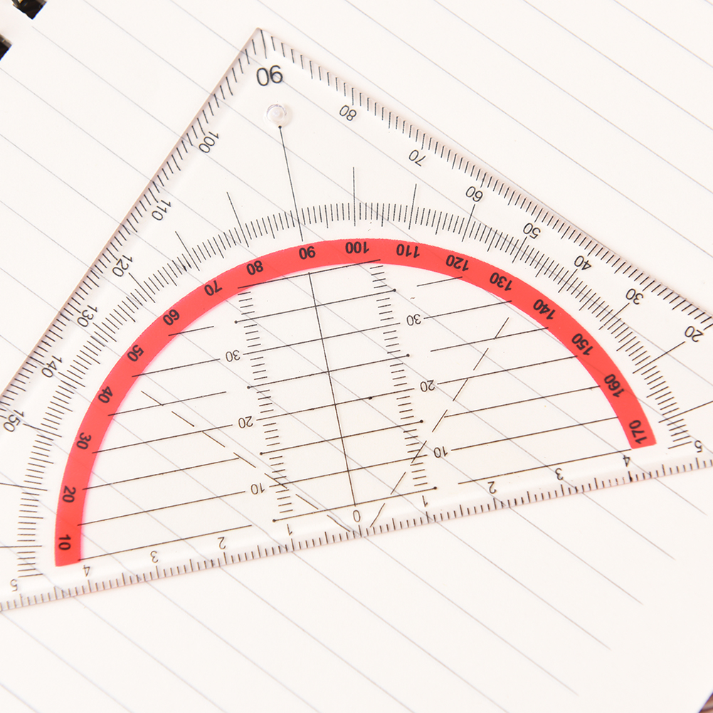 1pcs Multi-function Square Triangle Scale Rulers Engineering Ruler Stationery Office Students Protractor Measurement Rulers 15cm