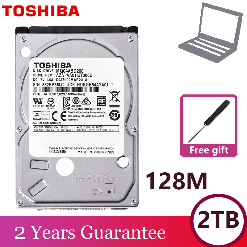 "TOSHIBA Laptop Hard Drive Disk 2000GB 2TB Internal HDD HD 2.5"" 5400 RPM  128M Cache 9.5mm SATA3 MQ04ABD200 Original for Notebook 1"