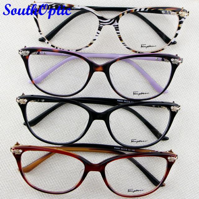 Frete grátis decoração marca óculos mulheres óculos de armação completa Titanium bonito flor decorado Popular F8053