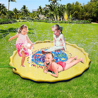 YUYU 67'' 170CM Garden Pool Beach Inflatable Sprinkle Splash Play Mat Water Spray Toy Children Kids Baby Pool Pad Cool Summer
