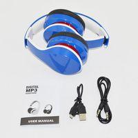 qijiagu 10PCS a lot Bluetooth headset wireless headphone music headband earphone with color box packing