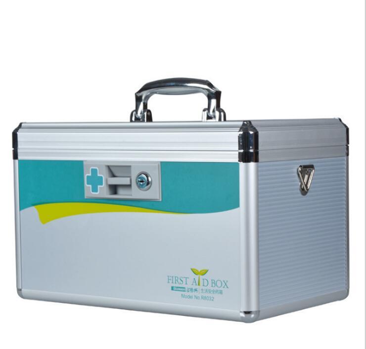 JIAN300-Портативный первой медицинской помощи комплект 12 дюймов алюминиевый сплав Домашняя аптечка ...