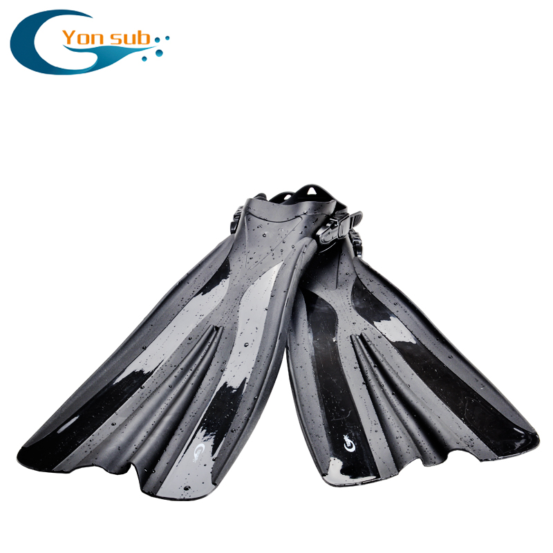 Long Flipper Professional Scuba Diving Fins For Snorkeling TPR Non-slip Adjustable Open Heel Underwater Hunting Diving Fins YF71