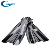 Professional Adult Long Flippers Scuba Diving Fins Swimming Snorkeling Adjustable Open Heel Underwater Hunting Diving Fins YF71