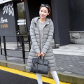 2016 New Long Parkas Female Women Autumn and Winter Hooded Coat Thickening Cotton Jacket Womens Outwear Parkas for Women