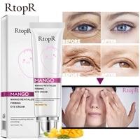 RtopR Mango Eye Cream Anti-Wrinkle Moisturizing Anti-Age Remove Dark Circles Eye Care Against Puffiness And Bags Hydrate Cream 3