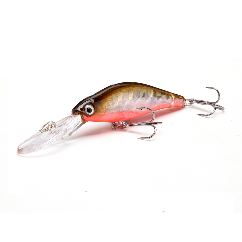 1pcs 9.5cm 7g Wobblers Fishing Tackle Pesca 3D Eyes Minnow Fiske Lure Svømme Crank Beit Artificial Lures 6 # Hook