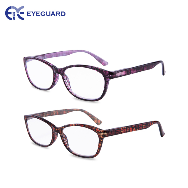 200e2b8bf8b EYEGUARD High Magnification Power 2 Pairs Spring Hinge Reading Glasses  Ultra Clear Women Stylish Readers 4.50 5.00 5.50 6.00