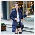 Mulheres Jaqueta de inverno Nova Coats & Jaquetas Com Capuz Moda Quente Down & Parkas Estilo Longo Casaco Outwear Casaco de Inverno de Espessura Mulheres 16452