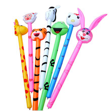 New Cartoon Inflatabel Animal 1PC Long Inflatable Hammer No wounding weapon Stick Baby Children Toys(China)
