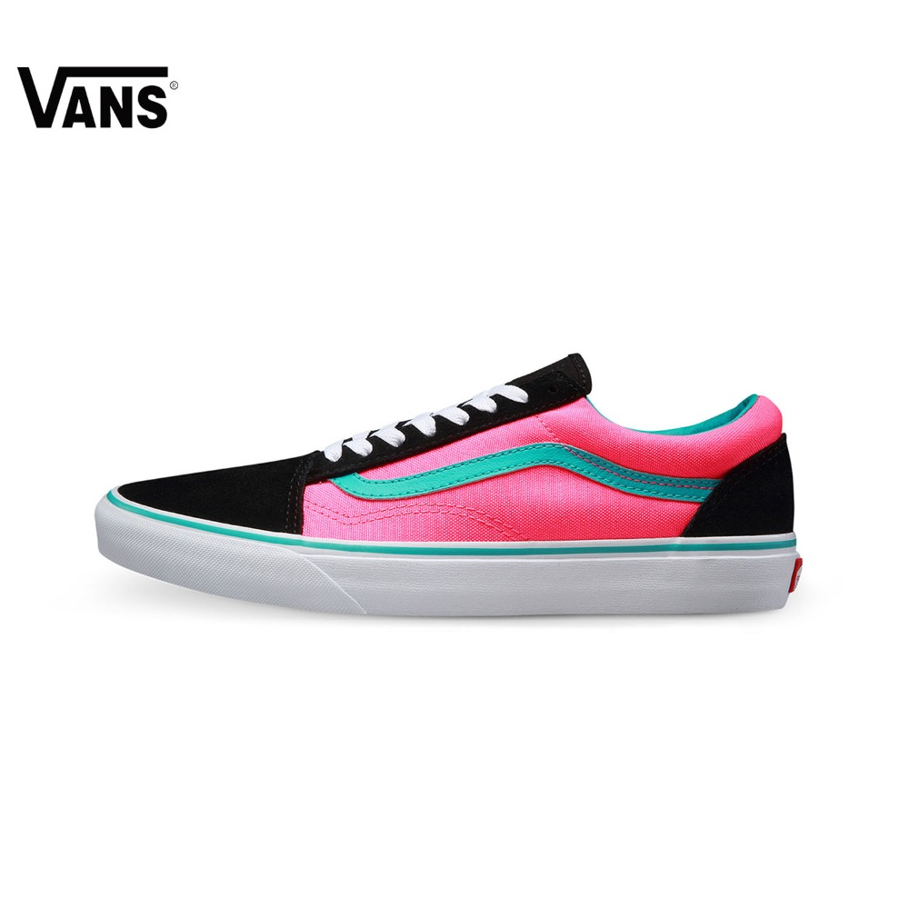 Original New Arrival Vans Men's & Women's Classic Old Skool Low-top Skateboarding Shoes Outdoor Sneakers Canvas VN0004OJJSU