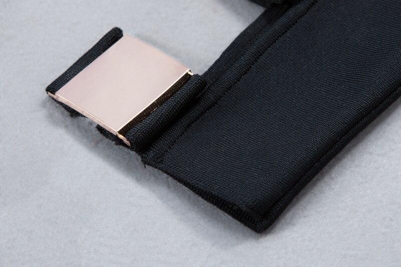 Salopette 216 Sans Noir Élégant Tricoté Bretelles Noir 2017 Bandage De Blanc L Designer blanc Date Sexy Luxe Femmes wFZHxCIqz
