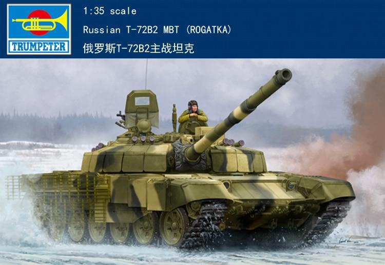 RealTS Trumpeter 09507 1 35 Scale Russian T 72B2 MBT ROGATKA Assembly Tank Model Kit