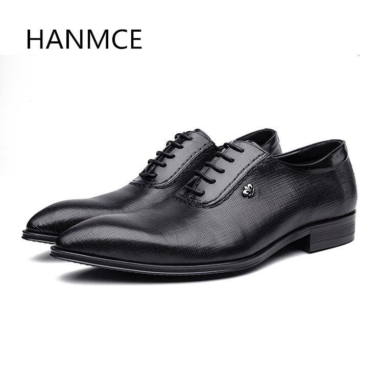 Nouveau hommes en cuir véritable affaires robe chaussures hommes bout pointu dentelle noir rouge oxford costume chaussures de mariage de haute qualité travail chaussures-in Chaussures d'affaires from Chaussures    1