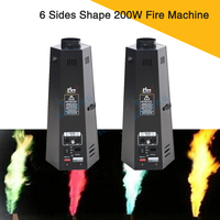 (2Pcs/Lot) Stage Flame Effect Equipment 6 Sides Shape 200W Fire Machine Making Flame 3 Meters High Dmx Stage Fire Machine