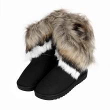 Fashion Women Boots Flat Ankle Fur Lined Winter Warm Snow Shoes non-slip casual New Style Autumn Hot Sale High Quality Footwear