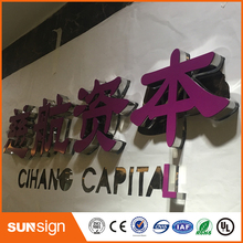 Unilluminated acrylic crystal letters and signs