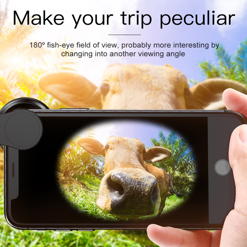 Image 5 - Baseus Phone Lenses Fish Eye Lens +Wide Angle +15X Macro Camera Lens for iPhone X XS Samsung Xiaomi Huawei Zoom Lens Selfie Lens-in Mobile Phone Lens from Cellphones & Telecommunications