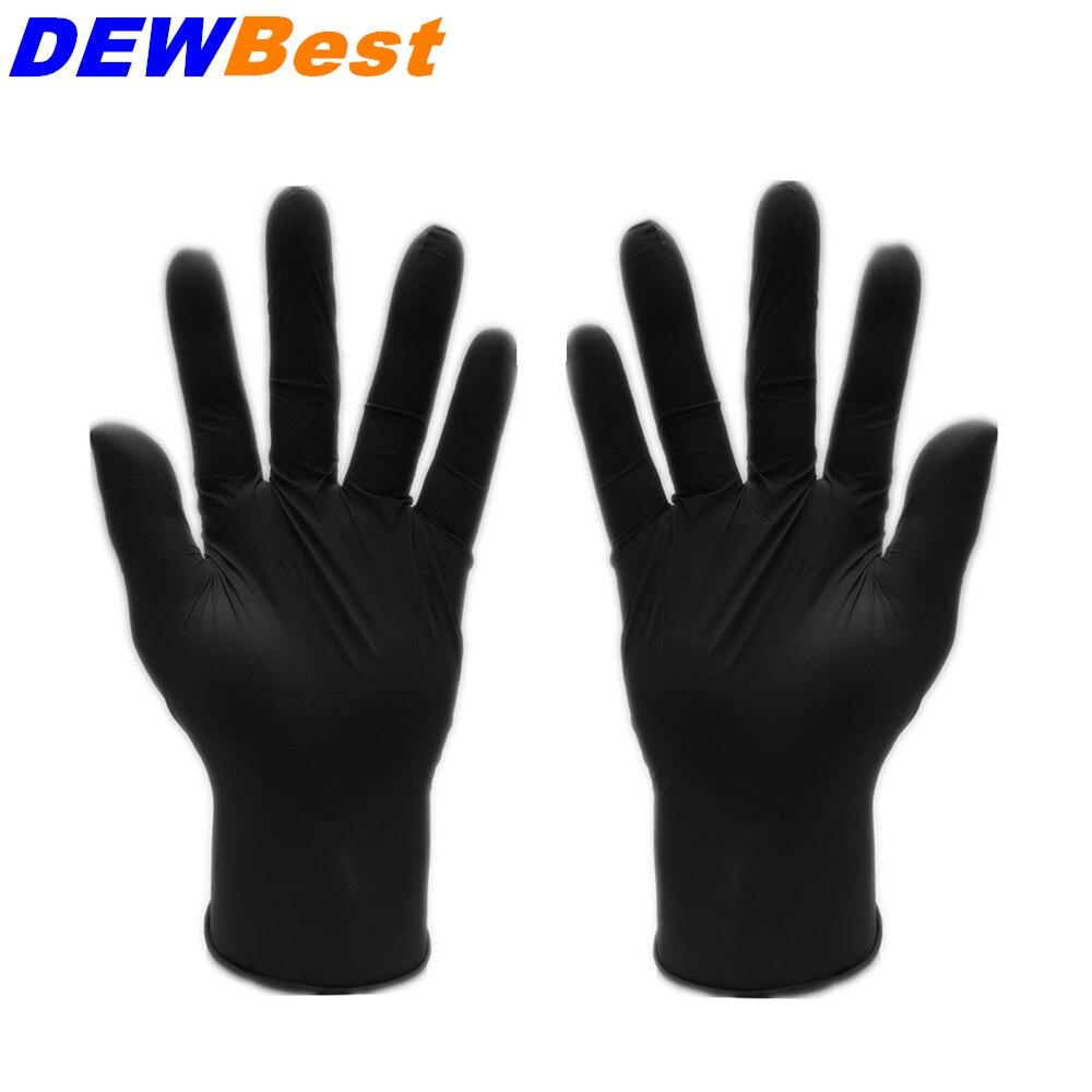 Black latex gloves xl - Dewbest 100pcs Black Latex Tattoo Gloves Disposable Medical Nitrile Sterile Tatoo Gloves Medium Size Tattoo Accessories