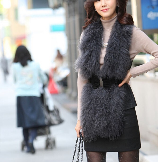 MLXSLKY зима Высокая талия женские карманы бедра юбки в шаг со словом сплит сплошной цвет шерсть Профессиональный OL юбка