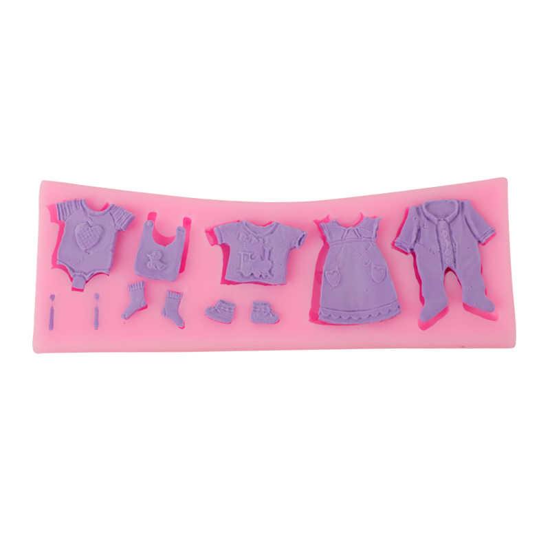 Delidge 1 шт. прекрасная детская одежда силиконовая форма для помадки 3D кекс шоколадные конфеты кондитерские формы свадебный торт украшения инструменты