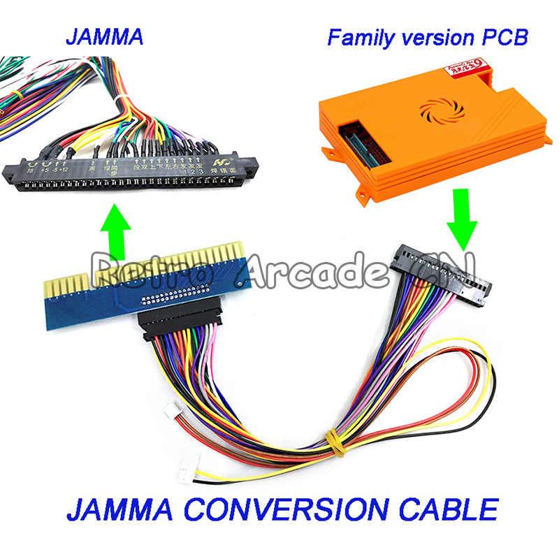 1 pcs 아케이드 게임 jamma 변환 케이블 가족 버전 게임 pcb 판도라 상자 5 6 9