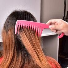 Grande largura do dente pentes de gancho lidar com desembaraçar reduzir a perda de cabelo pente pro salão de cabeleireiro tingimento estilo escova ferramentas venda quente
